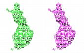 Sketch Finland Letter Text Map, Republic Of Finland - In The Shape Of The Continent, Map Finland - G poster