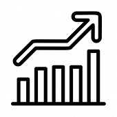 Grow Up Graph Icon. Outline Grow Up Graph Vector Icon For Web Design Isolated On White Background poster