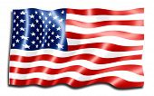 stock photo of american flags  - digital art of american flag - JPG