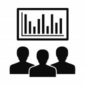 Political Candidate Graph Icon. Simple Illustration Of Political Candidate Graph Vector Icon For Web poster