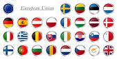 Collection Of Flags From All National Countries Of European Union poster