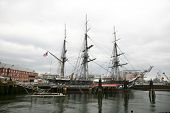picture of uss constitution  - USS Constitution docked in Boston - JPG