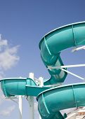 foto of cruise ship  - Water slide on a cruise ship - JPG