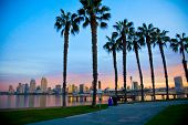 picture of highrises  - San Diego from Ferry Landing in Coronado - JPG