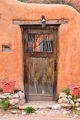 Vintage door in Santa Fe, New Mexico