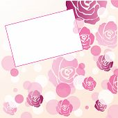 Floral Roses Greeting Card Background Design, Vector Illustration poster