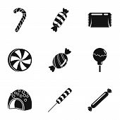 Sweet Candy Icon Set. Simple Set Of 9 Sweet Candy Vector Icons For Web Design On White Background poster