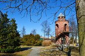 Red children's castle in Pinsk