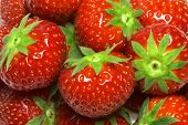 stock photo of strawberry plant  - strawberries background - JPG