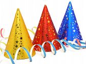 stock photo of party hats  - party hats - JPG