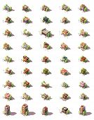 Vector Isometric Shop, Restaurants And Shops Icon Set. Includes Food, Clothes, Electronics, Tools, B poster