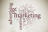 foto of marketing strategy  - Marketing word cloud - JPG
