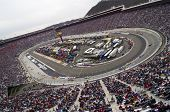 BRISTOL, TN - MAR 21: The NASCAR Sprint Cup teams take to the track for the running of the Food City