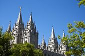 The Salt Lake Temple is the largest (of more than 120 around the world) and best-known temple of The Church of Jesus Christ of Latter-day Saints. poster