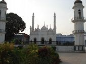 picture of imambara  - Historical white mosque against a clear sky - JPG