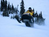 foto of ski-doo  - Ski doo in Winter  - JPG