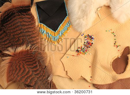 Feathers Leather And Beads