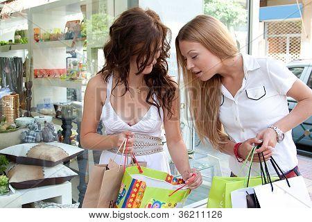 Two women go shopping