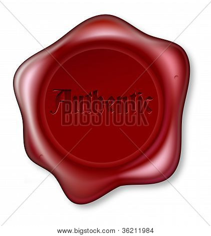 Authentic Red Wax Seal Illustration