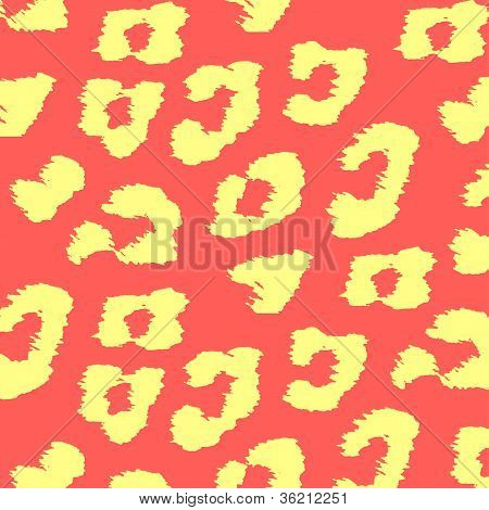 Colorful Animal skin textures of leopard. Vector illustration wild pattern, eps 10