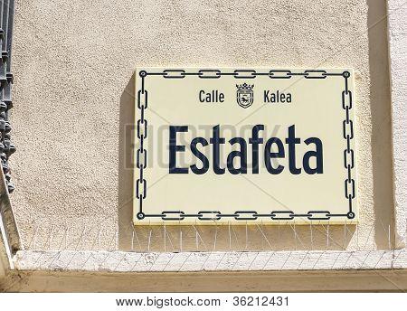 Plate Estafeta