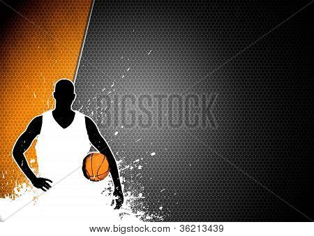 Basketball Man And Ball