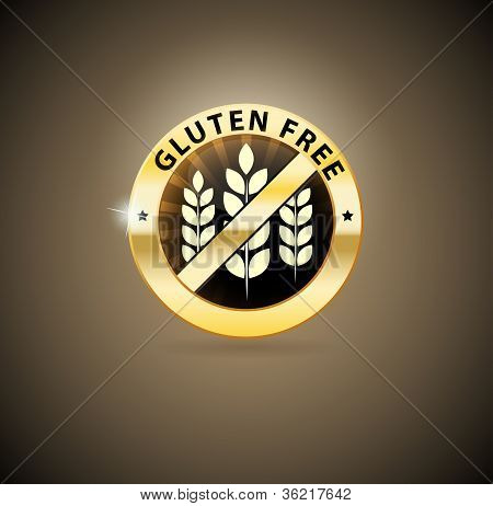 Golden gluten free icon