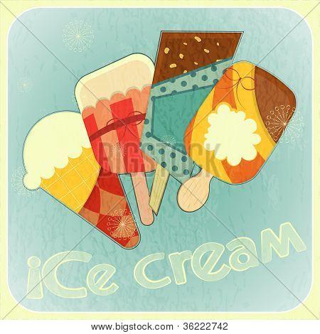 Ice Cream Retro Menu Cover
