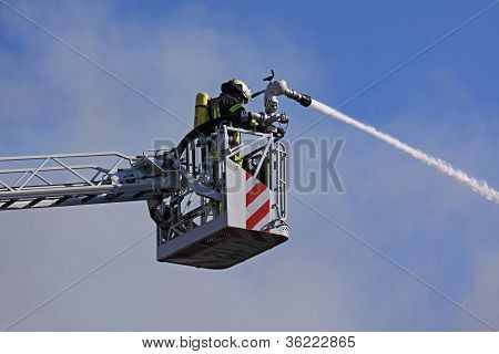 Firefighters Fighting