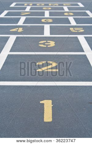 Children's Hop Scotch Game
