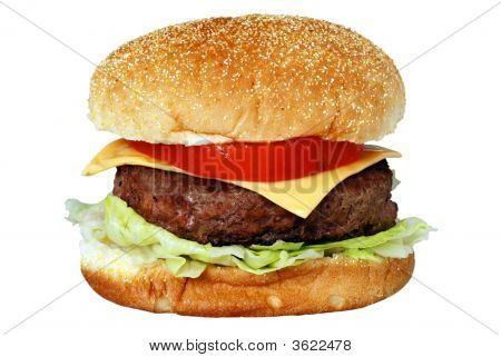 Isolated Cheese Burger