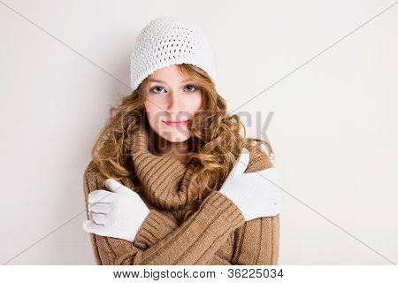 kalten Winter Mode Mädchen.