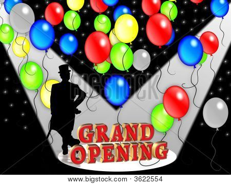 Grand Opening Party Balloons 3D