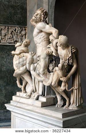 The statue of Laocoon and His Sons