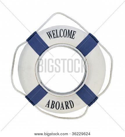 Willkommen an Bord von Life preserver