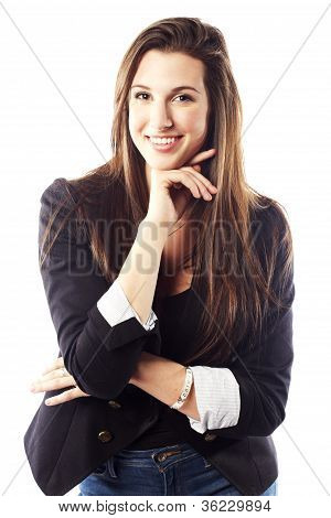Portrait Of Young Woman Wearing Blazer