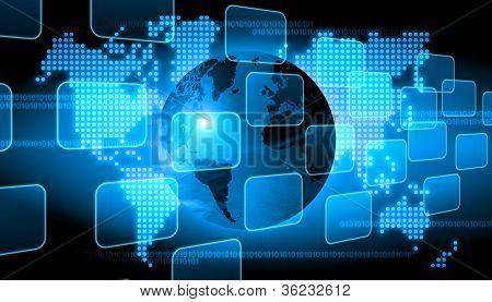 Resumo o fundo de tecnologia do mundo