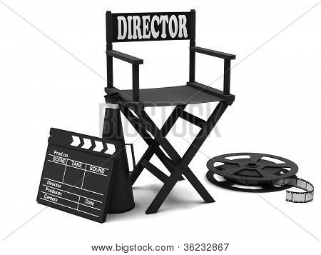 Film industry: directors chair