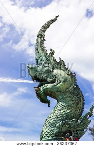 Head Of Naga With Sky