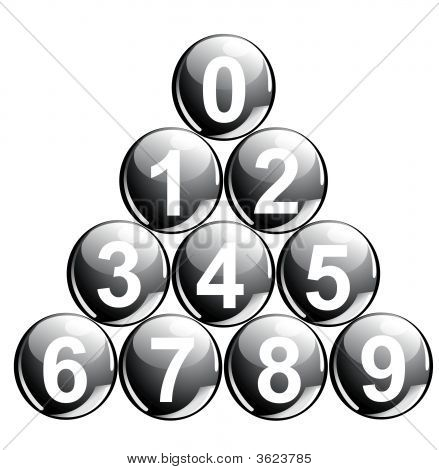 Black Balls With Numbers