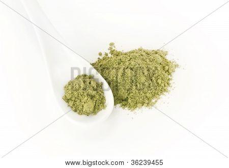 green nutrition food powder