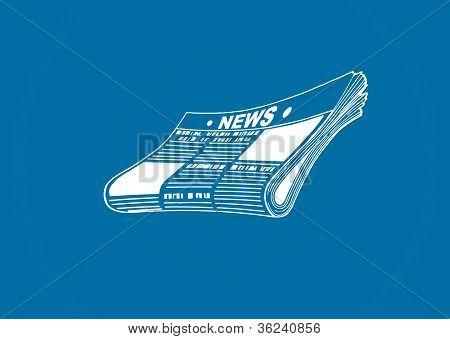 Conceptual Art Of A Newspaper