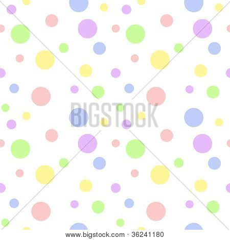 Seamless Pastel Multi Polka Dot