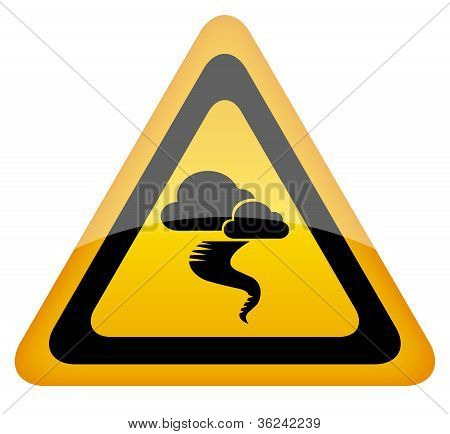 Hurricane warning vector sign