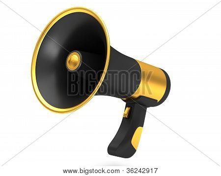 Black megaphone