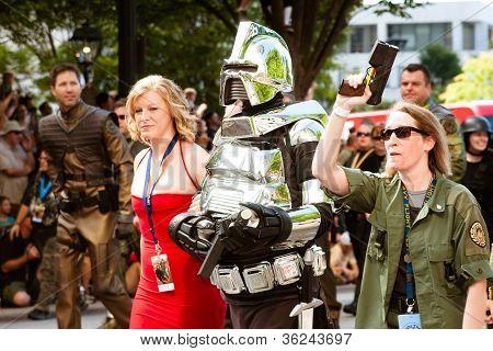 Battlestar Galatica fans march in the annual DragonCon parade