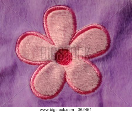 Simple Flower In Fabric