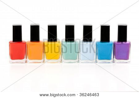 Seven Bottles Of Nail Varnish