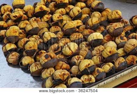 Roasting Chestnuts On The Grill