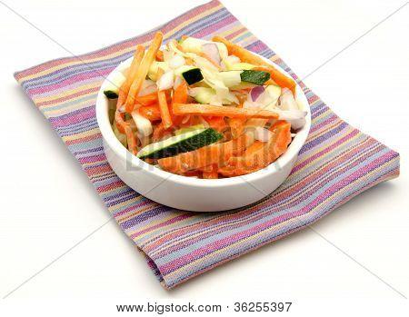Vegetables cut